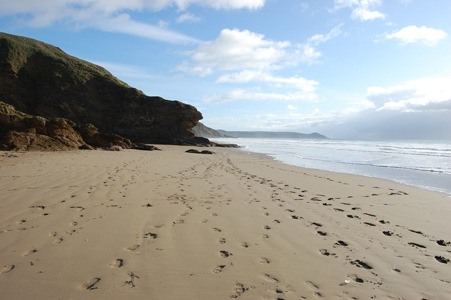 Beautiful Soft Sandy Beach at the Beach House Cornwall